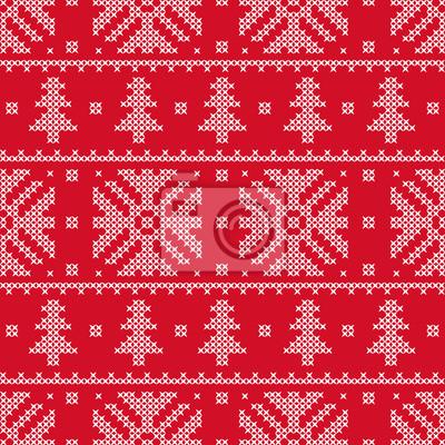 Le point de croix. Noël flocons de neige. Motif décoratif. Illustration vectorielle