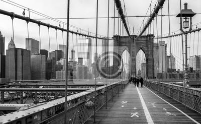 Papiers peints Le pont de Brooklyn dans la ville de New York, Etats-Unis.