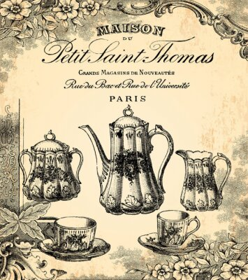 Papiers peints Le salon de thé