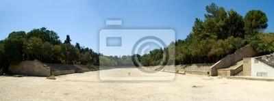 Le stade reconstruit à Monte Smith, Rhodes, Grèce