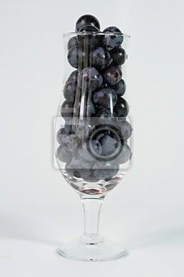Le verre et les raisins