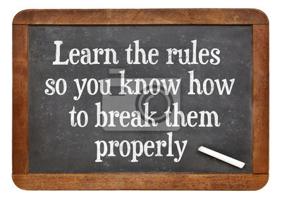 Papiers peints Learn and break rules