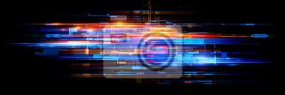 Papiers peints Led Light. Abstract effect. Future tech. Glare cubes. Digital cpu signal. .Shine grid. Modern big data. Neon flare. Quantum computer net system. .Magic code. Grid HUD lines. Web device. Blocks system.