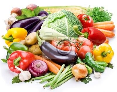 Légumes sur un fond blanc