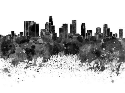 Papiers peints Les, Angeles, Horizon, noir, aquarelle, blanc, fond