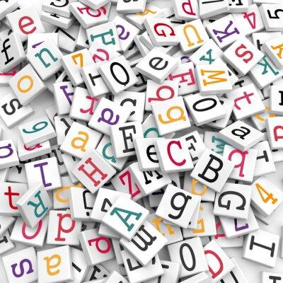 Papiers peints Les caractères alphabétiques - concept d'information