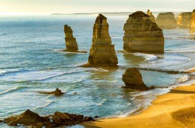 Papiers peints Les douze apôtres au coucher du soleil le long de Great Ocean Road, Victoria -