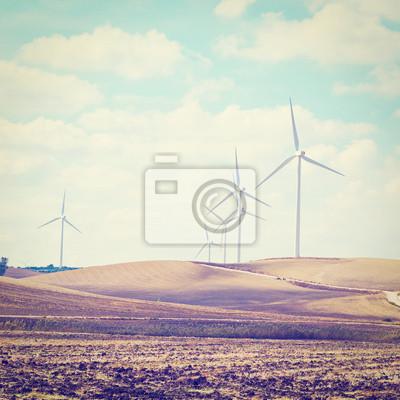 Papiers peints Les éoliennes