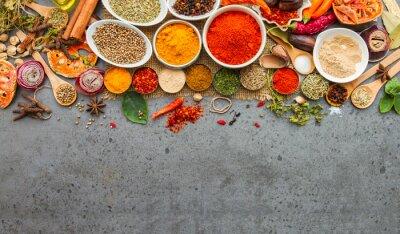 Papiers peints Les épices et les ingrédients herbs.Food et cuisine.