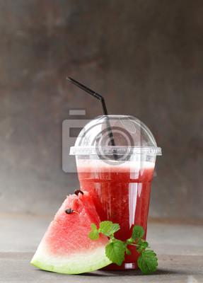 Les fruits et les melons à la baie boivent des smoothies - Des aliments sains