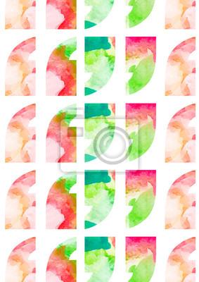 Les guillemets avec motif aquarelle de fleurs