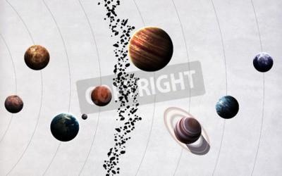 Papiers peints Les images à haute résolution présentent les planètes du système solaire.