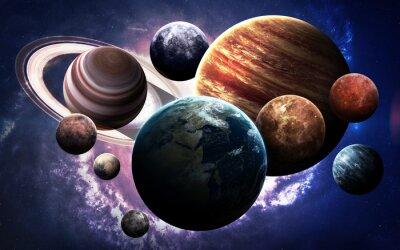 Papiers peints Les images à haute résolution présentent les planètes du système solaire. Cette image est fournie par la NASA