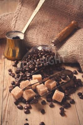 Papiers peints Les ingrédients et les ustensiles pour faire du café