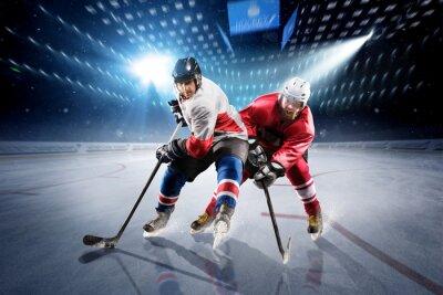 Papiers peints Les joueurs de hockey tirent sur la rondelle et les attaques