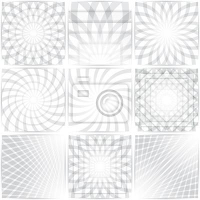 Les motifs géométriques définies. Circulaire abstraite colorée, milieux concentriques avec des ombres. Vector illustration EPS 10.