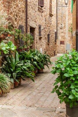 Papiers peints Les rues de la vieille ville italienne de Pienza, Toscane