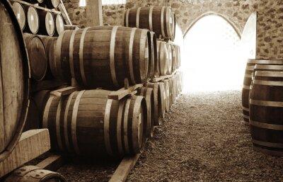 Papiers peints Les tonneaux de vin