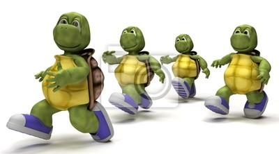 Les tortues de course en baskets