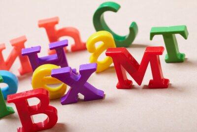 Papiers peints Lettres de l'alphabet plastique