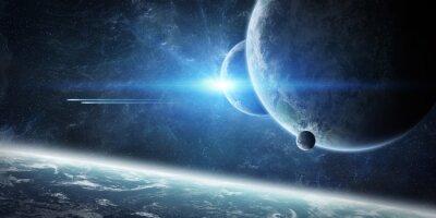 Papiers peints Lever de soleil sur la planète Terre dans l'espace
