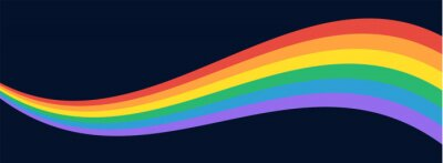 Papiers peints LGBT Pride Flag Wave Background. LGBTQ Gay Pride Rainbow Flag Illustration Isolated on Dark Background. Vector Banner Template for Pride Month