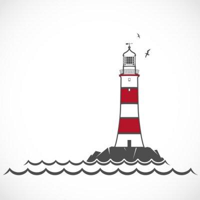 Papiers peints Lighthouse icon.