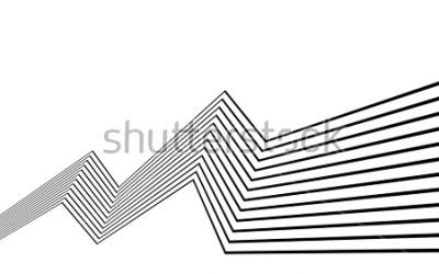 Papiers peints ligne de bande noir et blanc abstrait graphique optique art