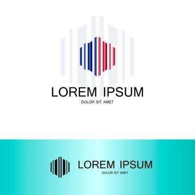 Ligne Polygone Forme Technologie Logo Papier Peint Papiers