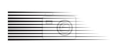 Papiers peints lignes de vitesse de mouvement horizontal pour bande dessinée
