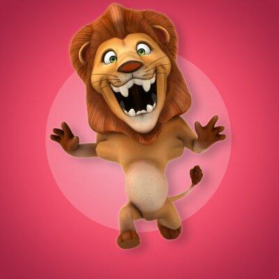 Papiers peints lion Fun