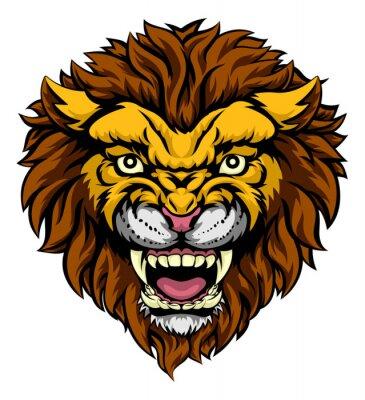 Papiers peints Lion Mascotte