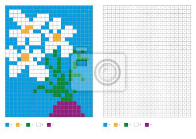 Papiers Peints Livre A Colorier Aux Carres Numerotes Kids Coloring Page Coloration