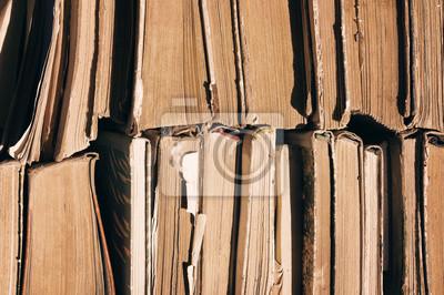 Livres Anciens Pile De Vieux Livres Texture Vieux Livres Papier