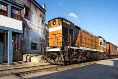 Papiers peints Locomotive à la gare de Camagüey Cuba