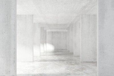 Papiers peints Loft, style, tunnel, beaucoup, murs, clair, vide, bâtiment