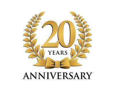 Papiers Peints Logo Anniversaire Ruban Couronne 20