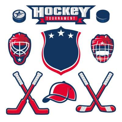 Papiers peints Logo de hockey, emblème, étiquette, éléments de conception de badge