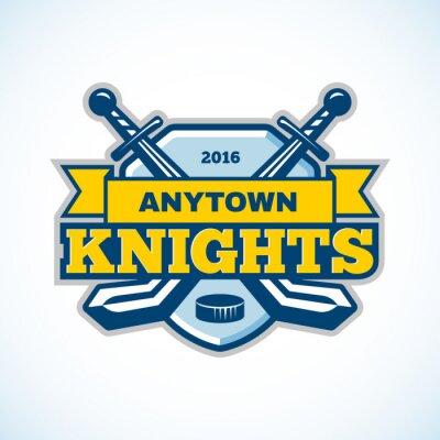 Papiers peints Logo de l'équipe des chevaliers du hockey sur glace.