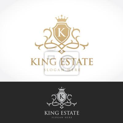 Logo De Logo De Luxe Marque De Boutique Immobilier Propriété