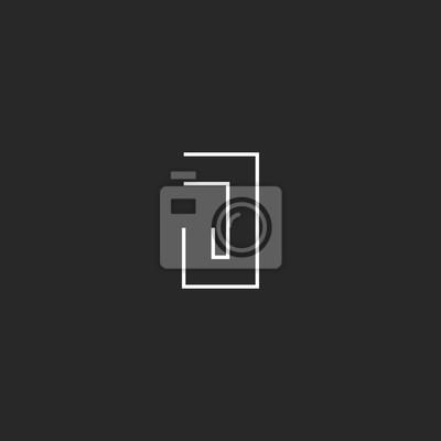 Papiers Peints Logo De Monogramme J Carte Visite Propre Doublure Embleme Geometrique