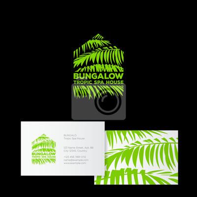 Papiers Peints Logo Du Bungalow Spa Tropic House Cosmetiques Tropicaux Beaute