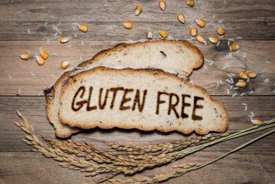Papiers peints Logo sans gluten grillé sur pain