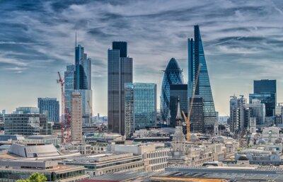 Papiers peints London City. Skyline moderne du quartier des affaires