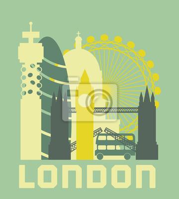 Londres affiche de symboles