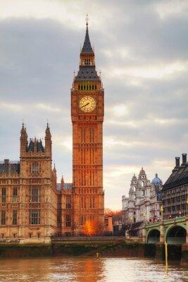 Papiers peints Londres avec le Tour de l'Horloge et Chambres du Parlement