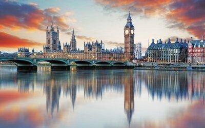 Papiers peints Londres - Big Ben et le Parlement, au Royaume-Uni