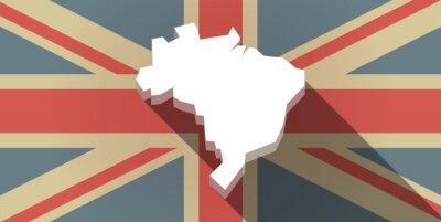 Papiers peints Long, ombre, Royaume-Uni, drapeau, icône ...
