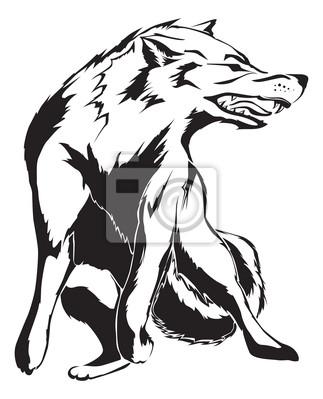 loup en colère