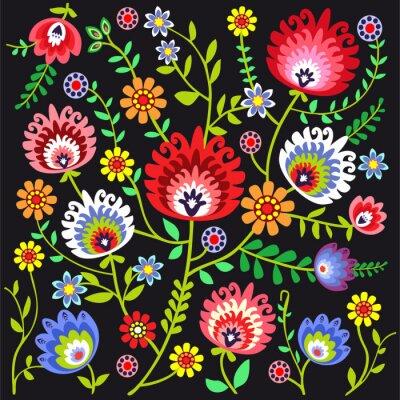 Papiers peints Ludowy wzór kwiatowy
